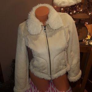 Bebe shearling coat size XS